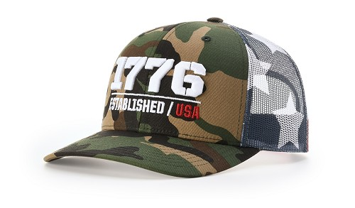 112PM - Richardson Printed Mesh Trucker